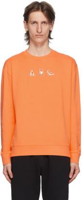 MAISON KITSUNÉ Orange Yoga Fox Patches Sweatshirt