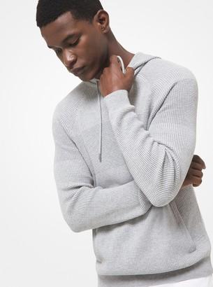 Michael Kors Textured Cotton Blend Hoodie