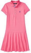 Ralph Lauren Mesh Short-Sleeve Polo Dress