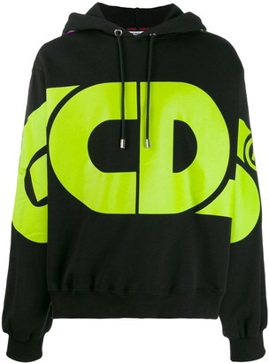 GCDS logo print hoodie
