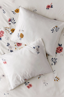 Urban Outfitters Blossom Embroidered Sham Set