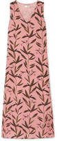 Stine Goya Lucille Printed Silk Crepe De Chine Midi Dress - Pink
