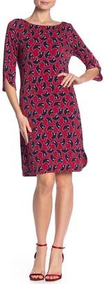 Leota Patterned Tulip Sleeve Shift Dress