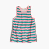 J.Crew Girls' striped sparkle tank top