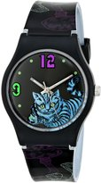 Disney Women's Alice in Wonderland Cheshire Cat Dial PStrap Watch AL1010