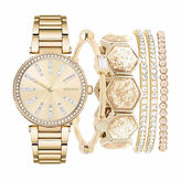 ROCAWEAR Rocawear Womens Gold Tone 6-pc. Watch Boxed Set-Rlst1955g329-005
