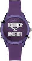 GUESS Women's Analog-Digital Purple Silicone Strap Watch 38mm U0894L5