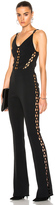 David Koma Chain Lace Inserts Jumpsuit