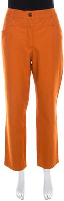 Escada Amber Orange Stretch Denim Teresa Straight Leg Jeans XL