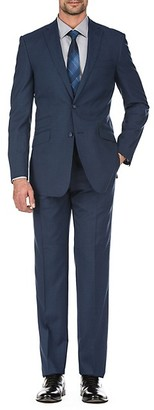 English Laundry Slim-Fit Plaid Wool Suit