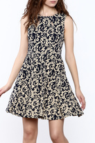 Aryeh Damask Print Dress