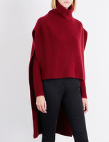 Rosetta Getty Turtleneck ribbed-knit cashmere poncho