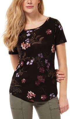Sangria Devoted Women's Tunics 92171-BLK - Black & Floral Cutout Top - Women