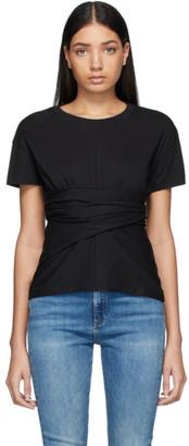 Rag & Bone Black Aimie Tie T-Shirt