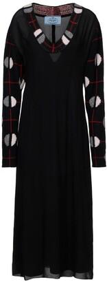 Prada Jacquard Midi Dress