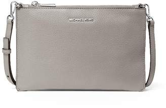 Michael Kors Pearl Grey Double Pouch Crossbody Bag