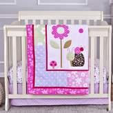 Dream On Me Spring Time 3-Piece Reversible Portable Crib Bedding Set