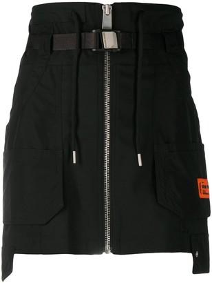 Heron Preston Tailoring Wool Cargo Skirt Black