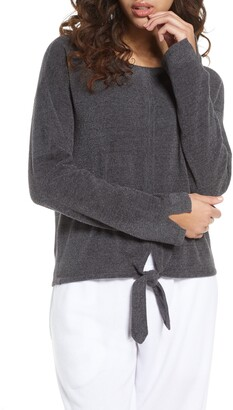 Barefoot Dreams CozyChic(TM) Ultra Lite Tie Front Lounge Pullover