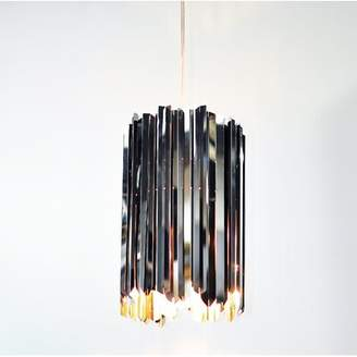 Innermost Facet 1-Light Single Cylinder Pendant Finish: Polished Stainless Steel