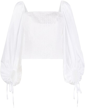 FEDERICA TOSI Square Neck Billowing Sleeve Blouse