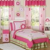JoJo Designs Sweet Flower 4-Piece Twin Bedding Set in Pink/Green
