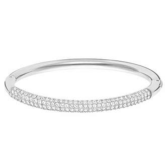 Swarovski Women's White Rhodium plated Stone Bangle 5032845