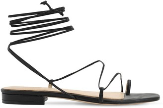Studio Amelia 10MM LEATHER LACE-UP SANDALS