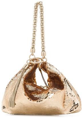 Jimmy Choo Callie sequin-embellished clutch bag