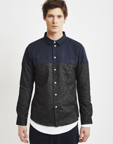 The Idle Man Cut and Sew Flannel Oxford Navy