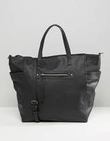 Pieces Zip Detail Tote Bag