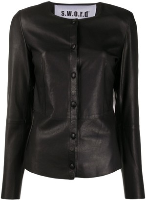 S.W.O.R.D 6.6.44 Collarless Button-Down Jacket