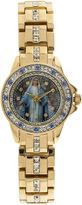 Elgin Womens Virgin Mary Crystal-Accented Watch