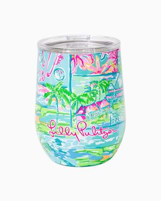 Lilly Pulitzer Stemless Insulated Wine Glass