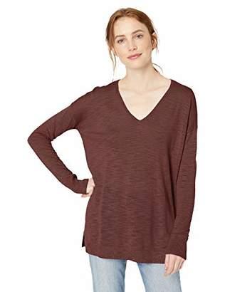 Daily Ritual Women's Lightweight V-Neck Tunic Sweater,M