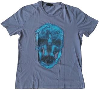 Alexander McQueen Blue Cotton T-shirts