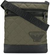 Armani Jeans quilted logo messenger bag