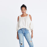 Madewell Cold-Shoulder Top in White Wash