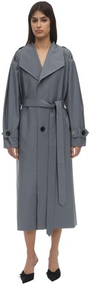 ANOUKI Double Sided Wool Blend Trench Coat