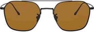 Giorgio Armani Aviator Framed Sunglasses