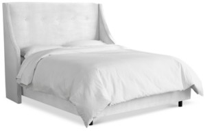 Skyline Galvez Queen Button Tufted Wingback Bed