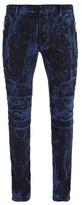 Balmain Bleached Skinny Biker Jeans