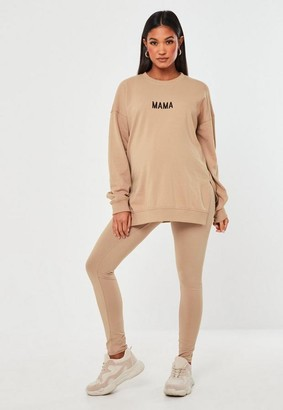Missguided Camel Waistband Maternity Leggings