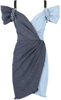 Dolce & Gabbana Two-Tone Denim Dress