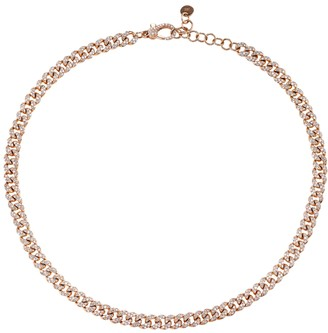 Shay 18k Rose Gold Mini Pave Diamond Link Choke