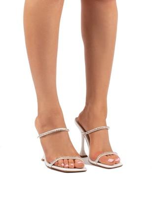 Public Desire Uk Effortless Barely There Diamante Heels
