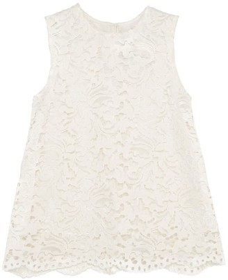 Lindsay Nicholas New York Lace Top In White