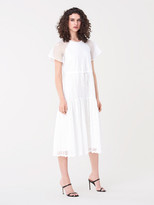 Diane von Furstenberg Marlowe Cotton Eyelet Midi Dress