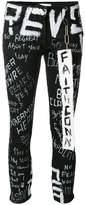 Faith Connexion graffiti print jeans
