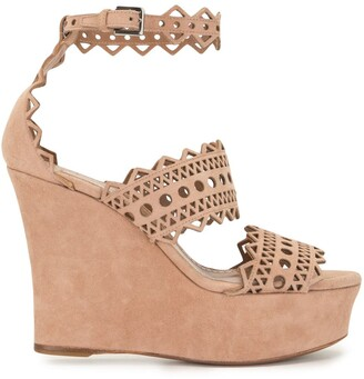 Alaïa Pre-Owned Cut-Out Wedge Sandals